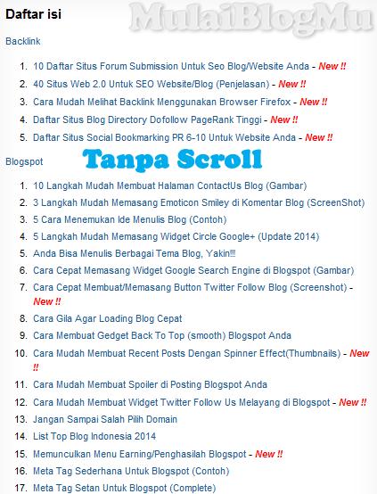 Hasil Script Sitemap Pertama (Tanpa Scroll)