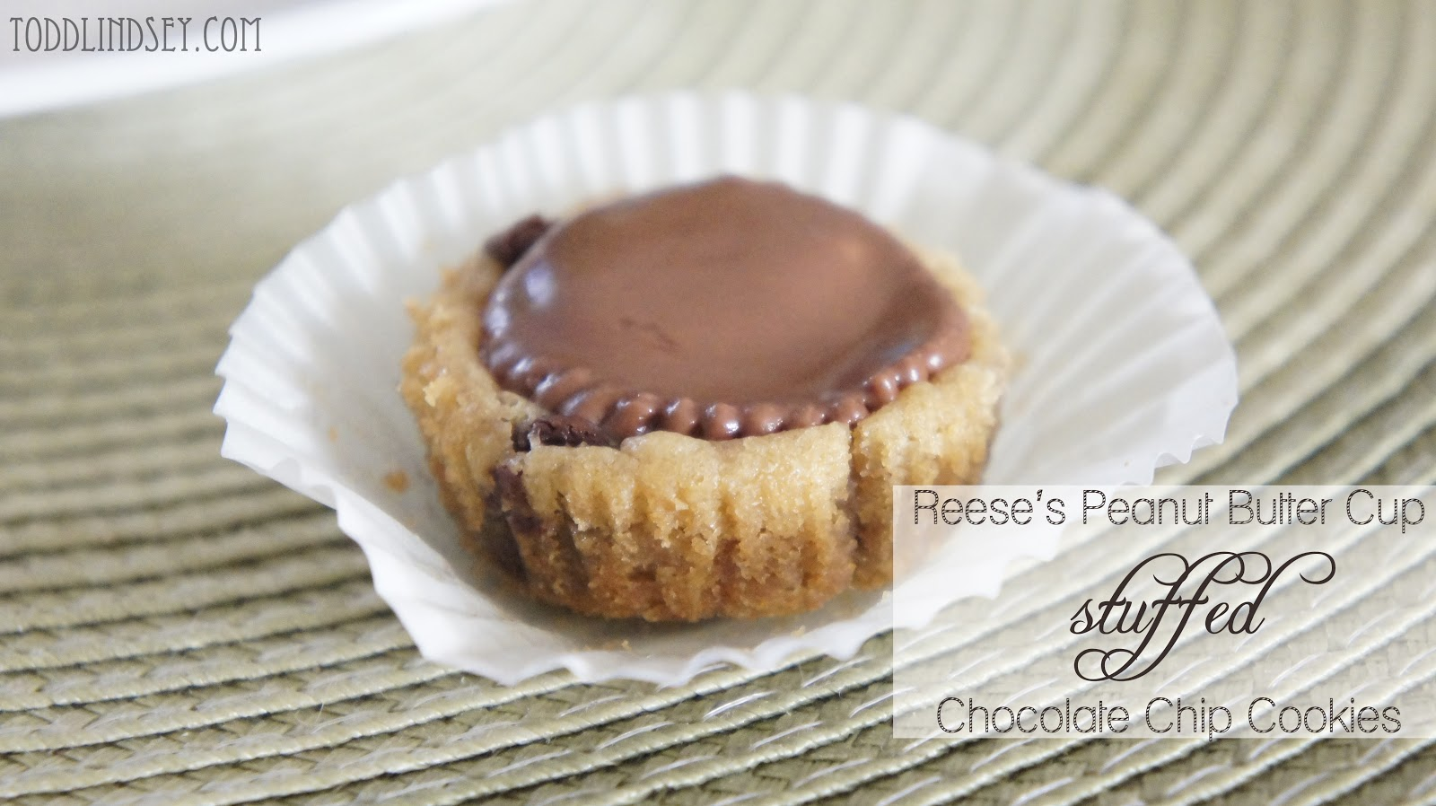 ... & Lindsey: Reese's Peanut Butter Cup Stuffed Chocolate Chip Cookies