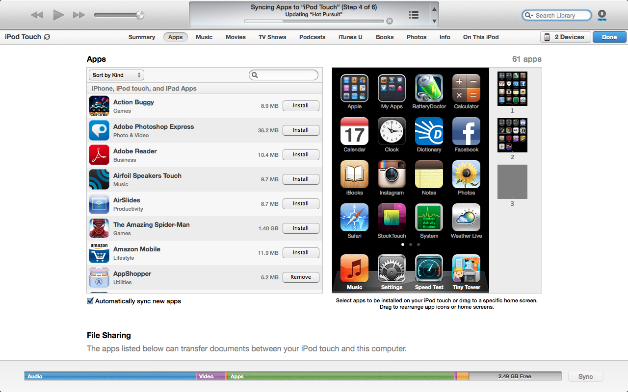 how to download music itunes to ipod touch