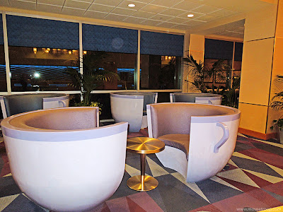 Teacup Chairs Disneyland Hotel lobby giant Fantasy tower