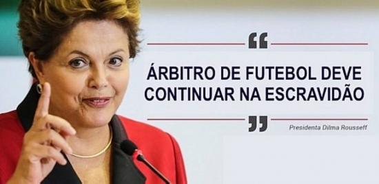 Anaf ironiza veto da presidente Dilma Rousseff ao repasse de direito de arena aos árbitros