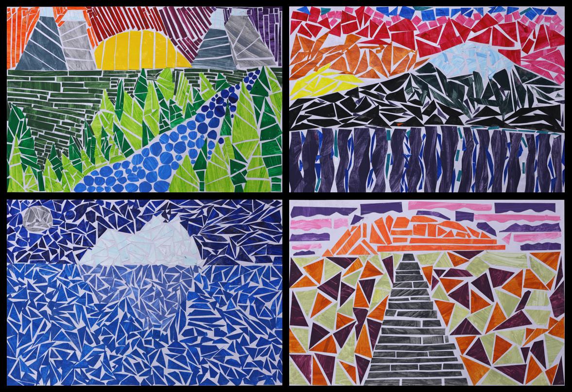 Construction Paper Mosaic Art