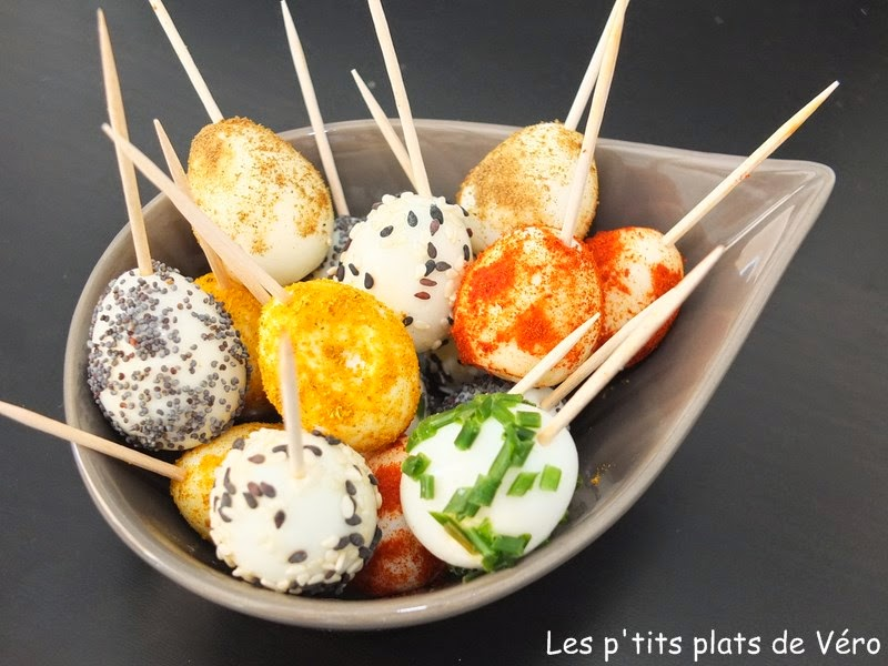 Exceptionnel Les p'tits plats de Véro: Une idée facile pour l'apéro: œufs de  LL63