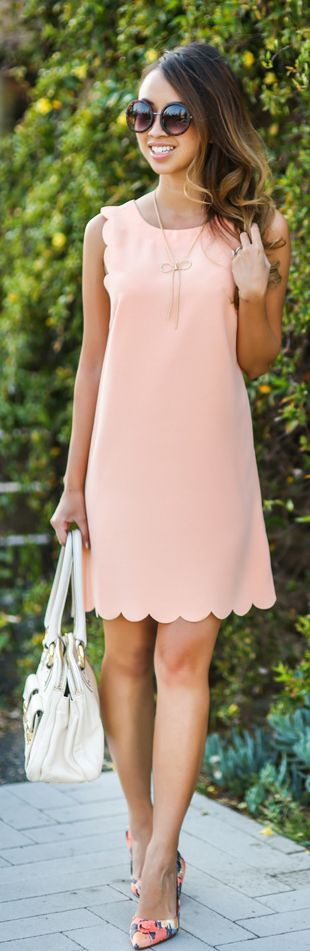 Scallop Shift Dress...cute..