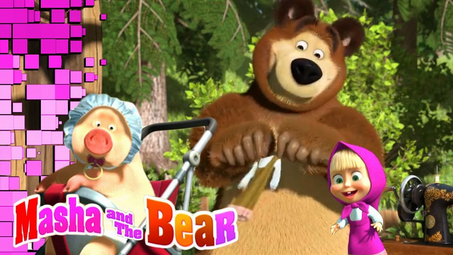 KUMPULAN GAMBAR MARSHA AND THE BEAR | Gambar Kartun 3D Marsha The Bear