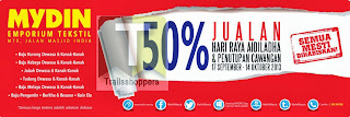 Mydin Textile Emporium Hari Raya Aidiladha & Branch Close Down Sale 2013