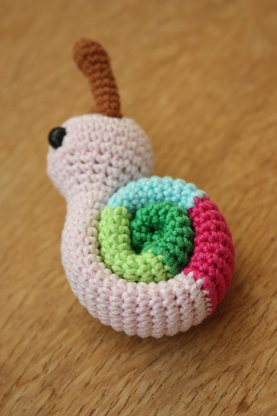 Amigurumi Free Patterns Blog : HAPPYAMIGURUMI: Amigurumi snail pattern