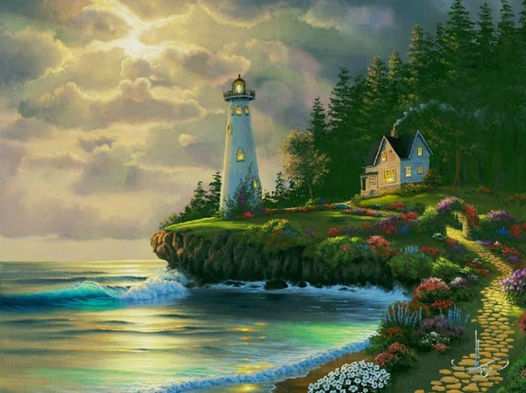 Arte pinturas leo pinturas de bonitos paisajes al hogue for Pinterest obras de arte