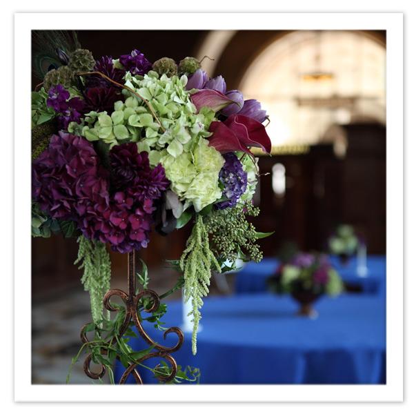 Purple green flower arrangements on pinterest wedding