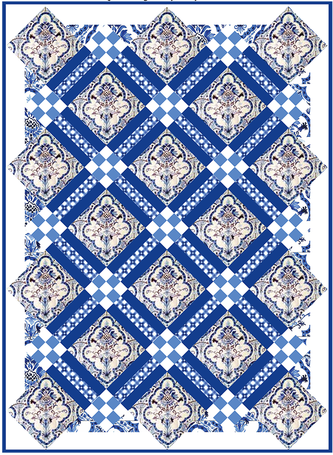 http://www.michaelmillerfabrics.com/inspiration/freequiltpatterns/french-tile.html
