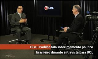 Eliseu Padilha fala sobre momento político brasileiro durante entrevista para UOL