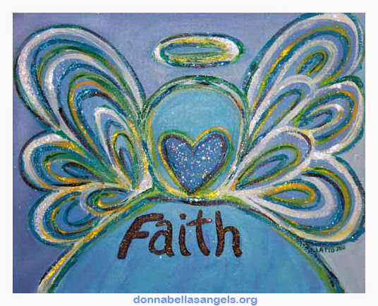 Faith Word Angel Art Painting