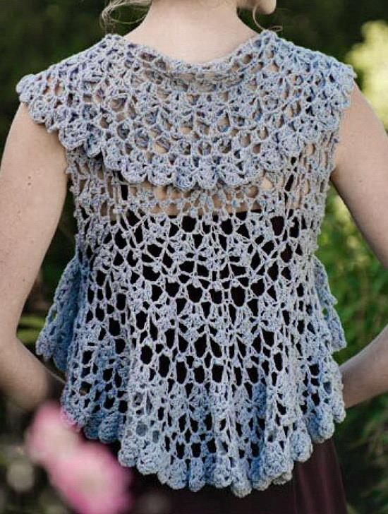 Free Crochet Ladies Circle Vest Or Shrug Pattern : Crochet Sweaters: Crochet Pattern Of beautiful bolero ...