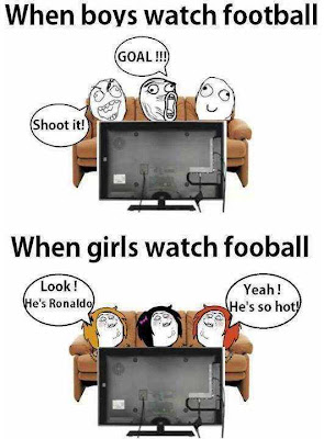 What Difference when boy and girl Watch Football