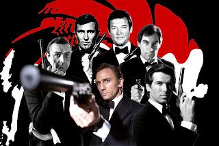 james bond actors Daniel Craig Sean Connery Roger Moore Pierce Brosnin