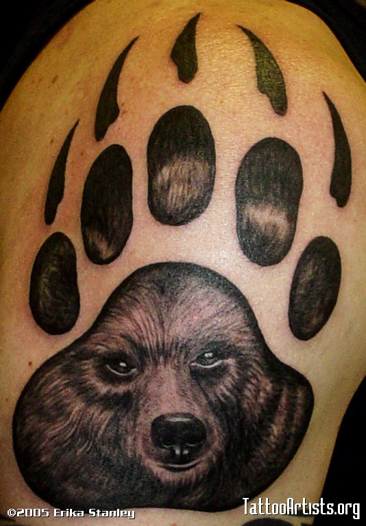 Tatto bear paw tattoos for Lion paw tattoo