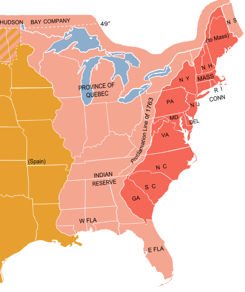 13 Colonies Map With Appalachian Mountains The boundary of the ...