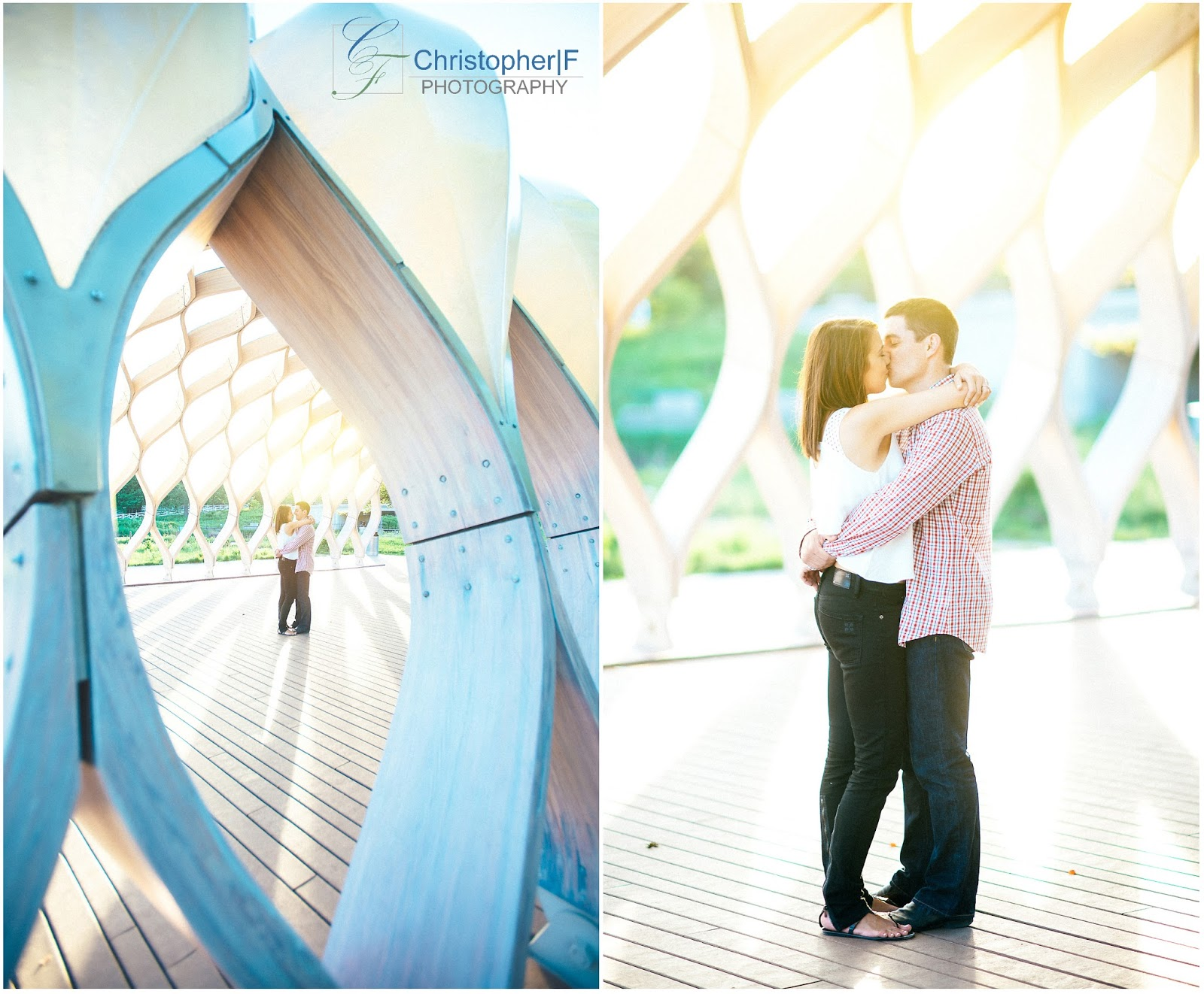 Chicago South Pond Lincoln Park Engagement Photo