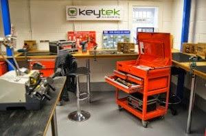 Training facilities at the Keytek Locksmith Training Academy