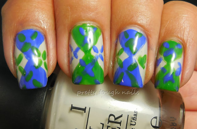 #31DC2013 Inspired By A Tutorial - Argyle Nails