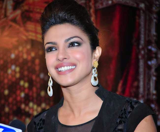 Priyanka Chopra In Puffed Bun Hairstyle