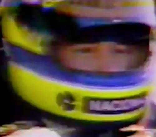 Campanha do Banco Nacional em 1994, momentos após a morte do piloto Ayrton Senna.