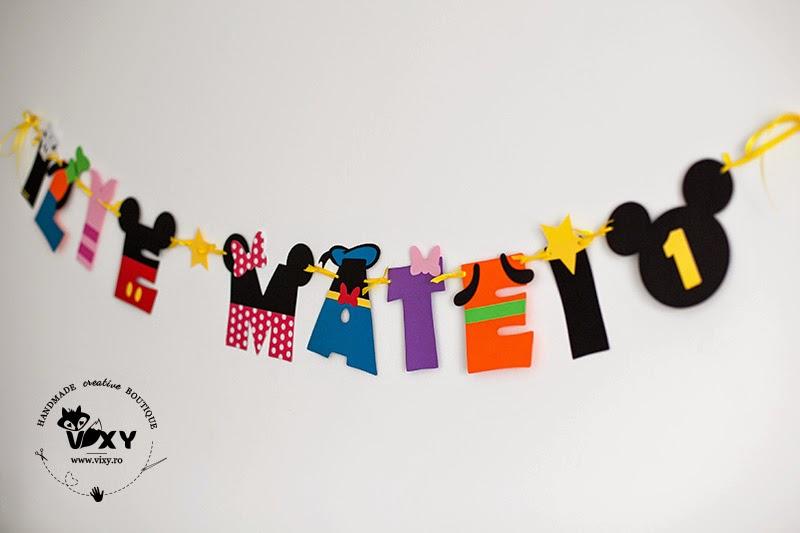 Ghirlanda Mickey Mouse clubhouse, ghirlanda Mickey Minnie Donald Pluto Goofy, litera personalizata Mickey, ghirlanda personalizata