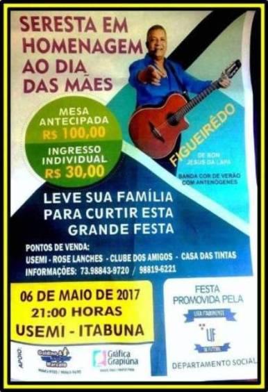 SERESTA DAS MÃES - 06 DE MAIO - 21h - USEMI