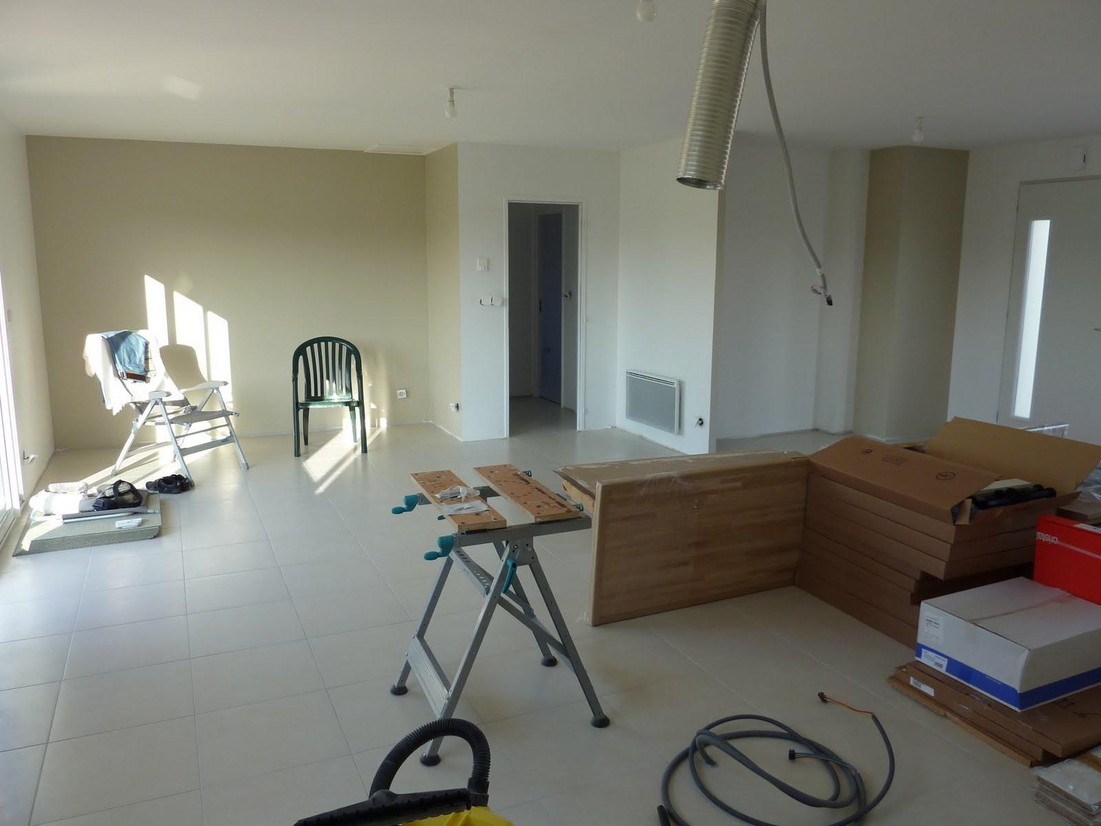 La construction de LAC Peinture de la pièce à vivre