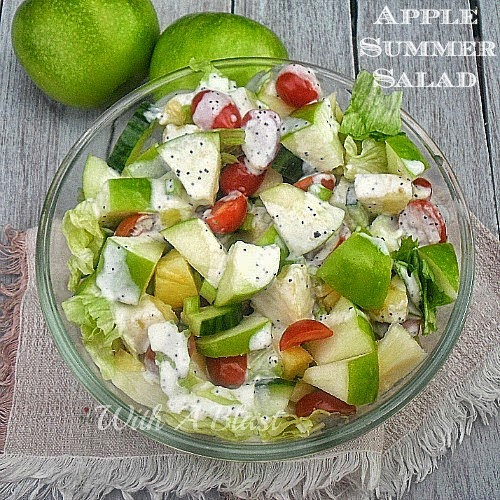 Apple Summer Salad on Diane's Vintage Zest!