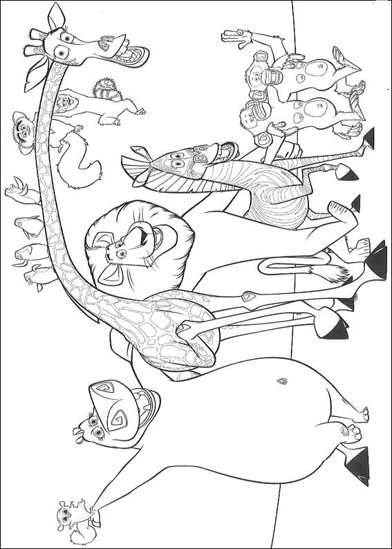 coloring pages of madagascar 2 - photo#16