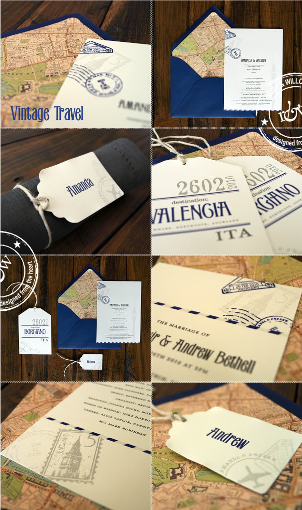 Above a whole suite of tag inspired travel stationery