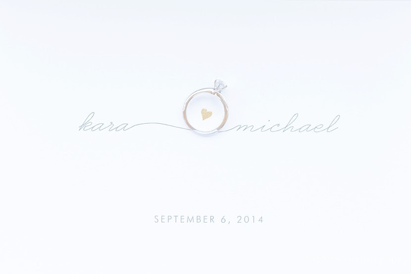wedding stationary with ring photo