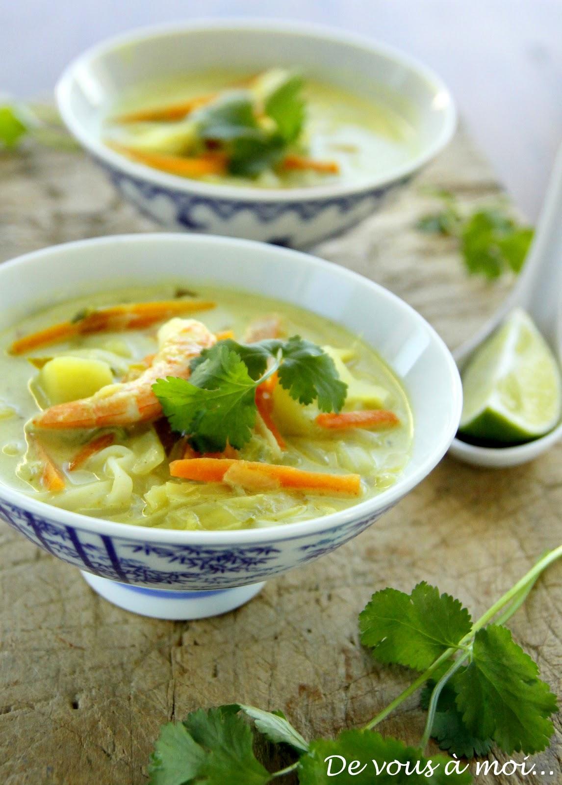 De vous moi soupe de l gumes d 39 hiver au curry - Soupe potiron lait de coco curry ...