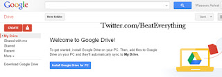 After successful log in to google drive