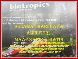 Selamat Hari Raya Aidilfitri Maaf Zahir Dan Batin Tukus Ikhlas Biotropics Malaysis Berhad.