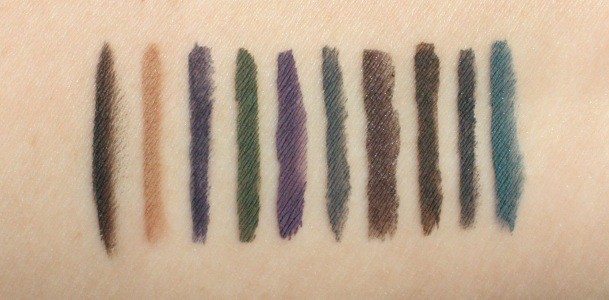 Laura Mercier Cake Eyeliner Swatches