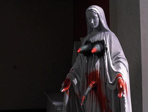 La Virgen profanada de la película El exorcista - Cine de Escritor