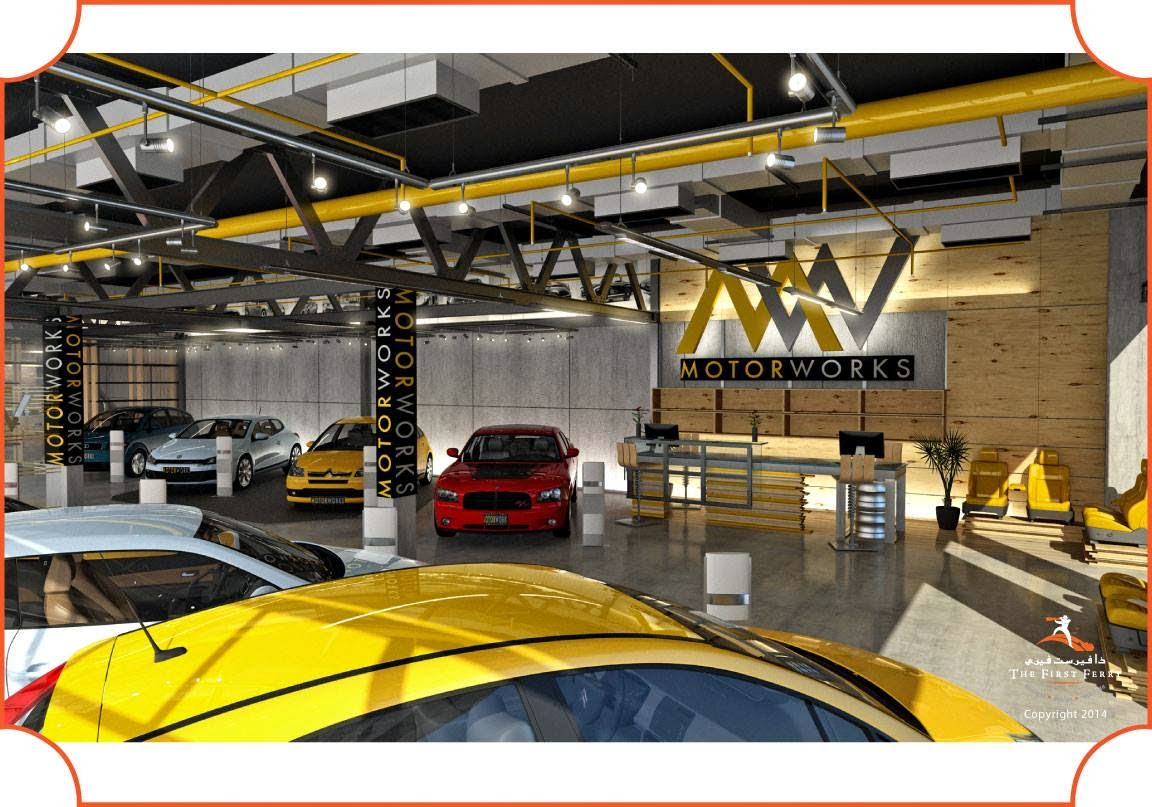 MOTOR WORKS CAR SHOWROOM