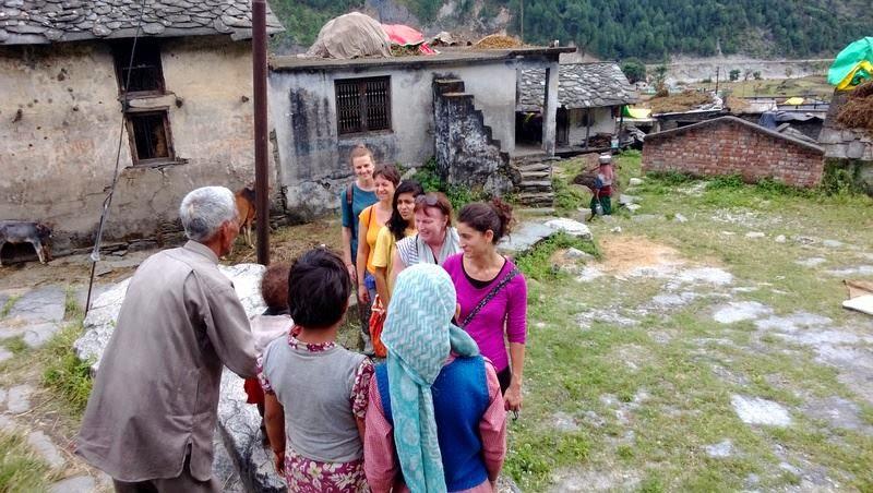 village life India, Garhwal himalayas