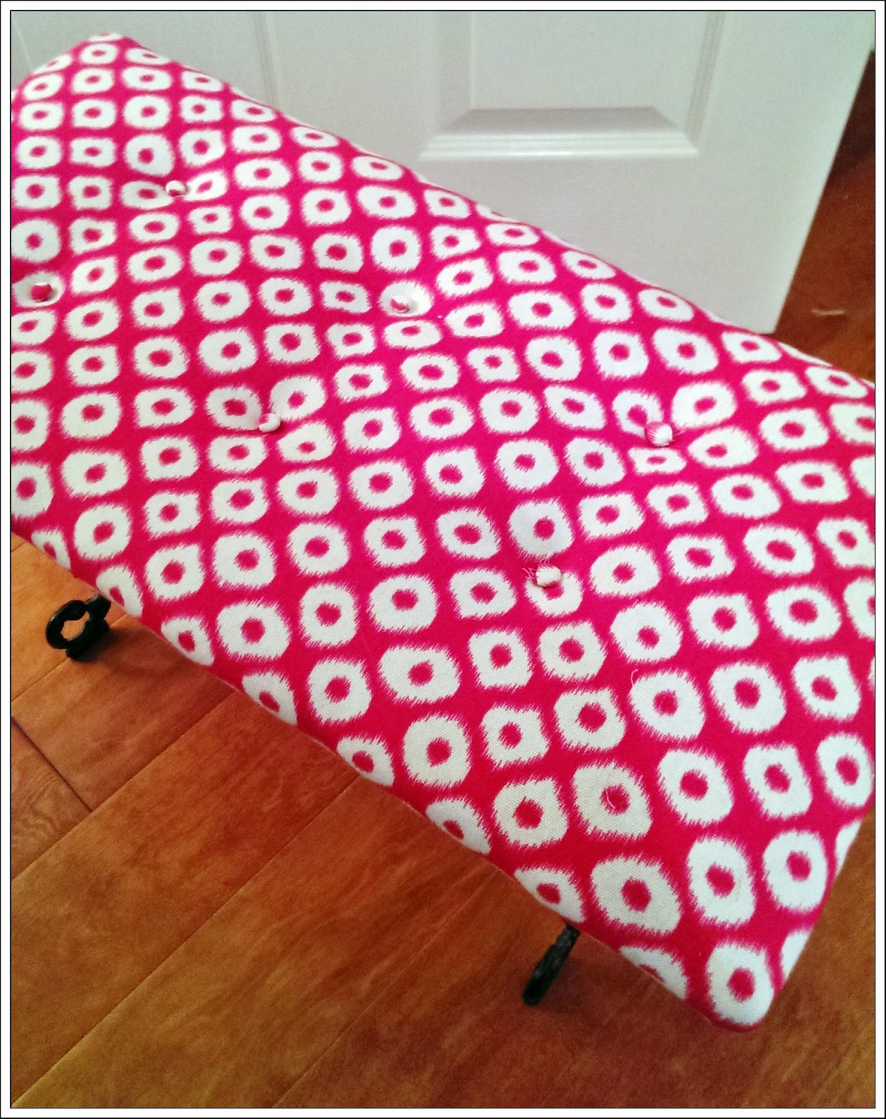 DIY Reupholstering with buttons