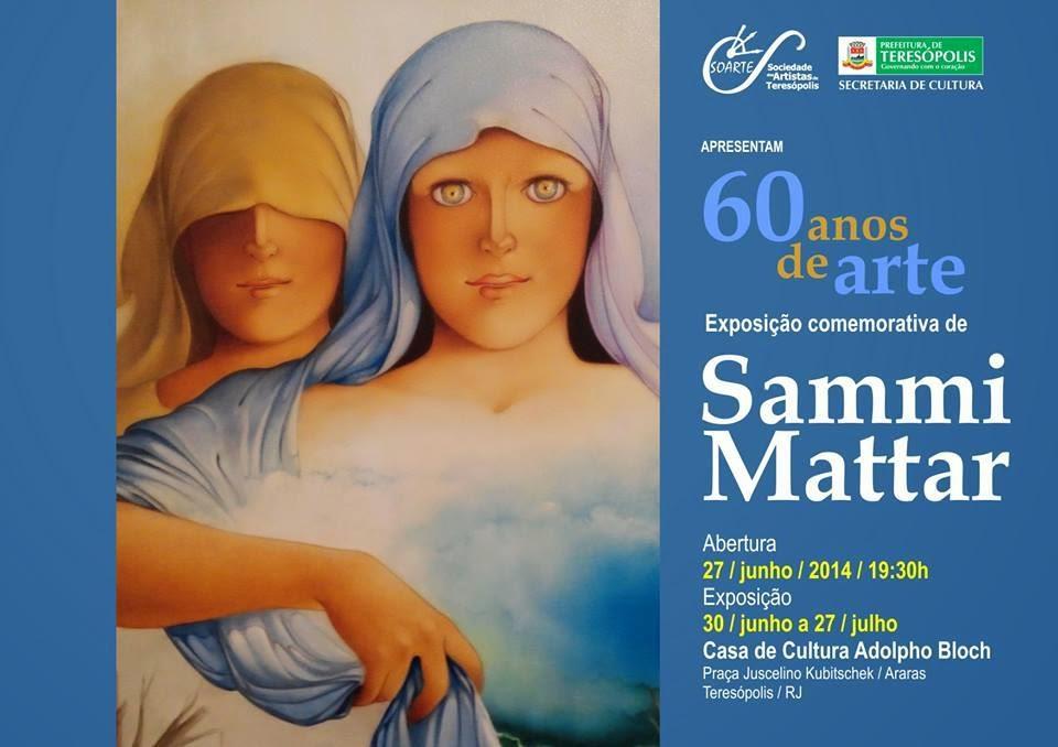 Exposição comemora 60 anos de carreira de Sami Mattar