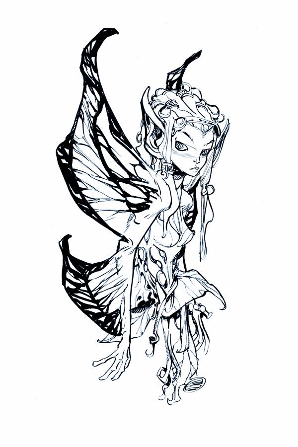 Dark Fairies Drawings Drawings of Dark Fairies