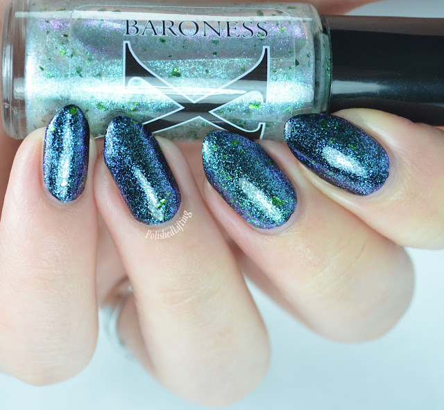 Baroness X Phantasmic over Orly Liquid Vinyl