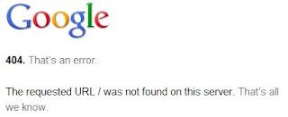 Google Error Url
