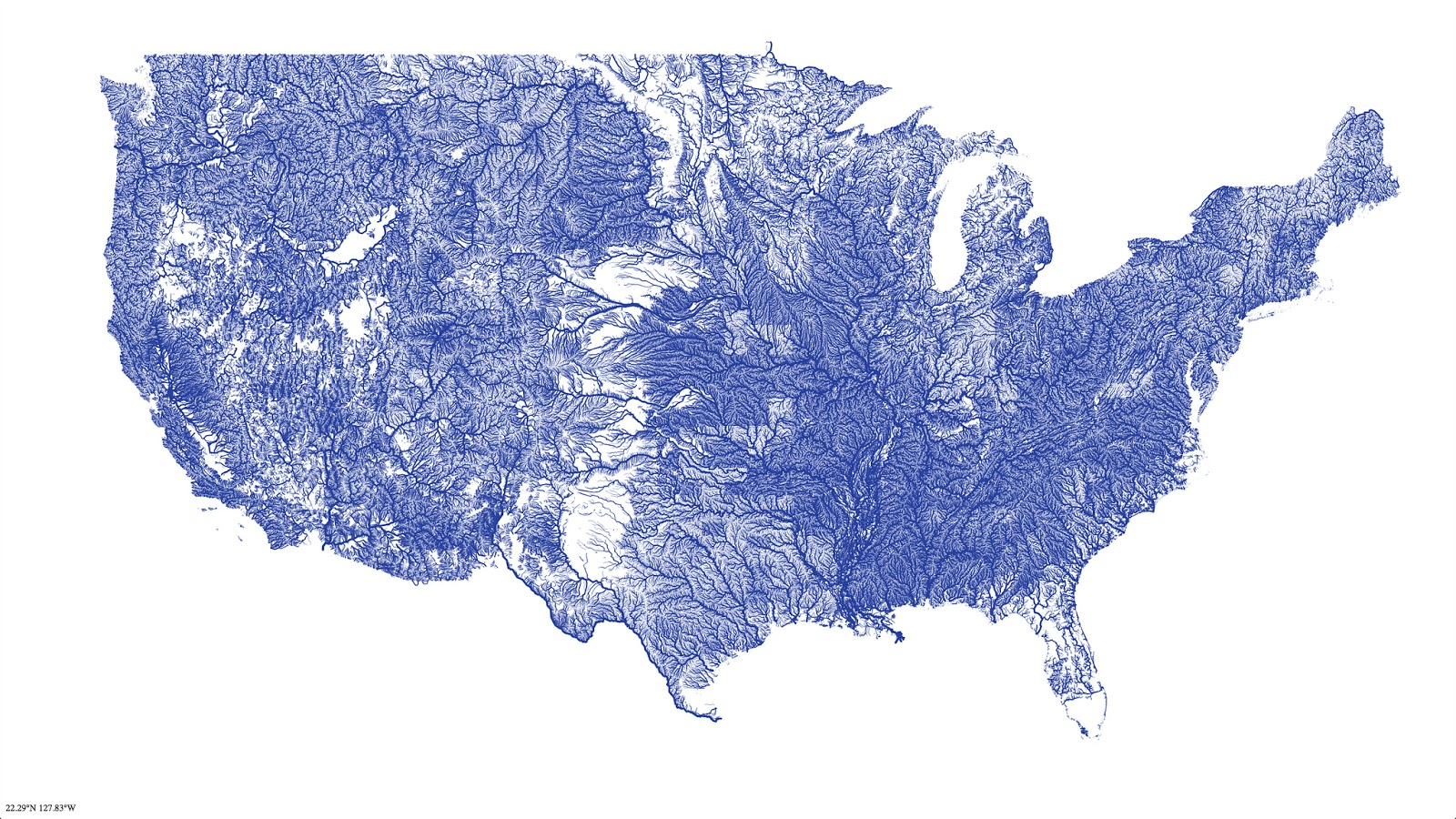 All the rivers in the U.S.