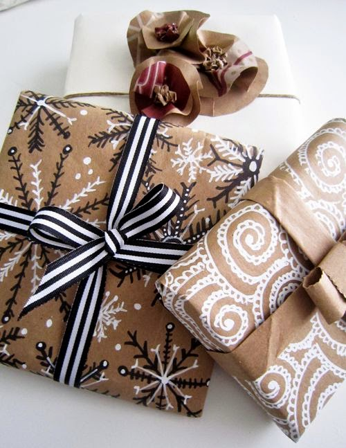 http://alisaburke.blogspot.ca/2011/12/holiday-wrapping-with-paper-bags.html