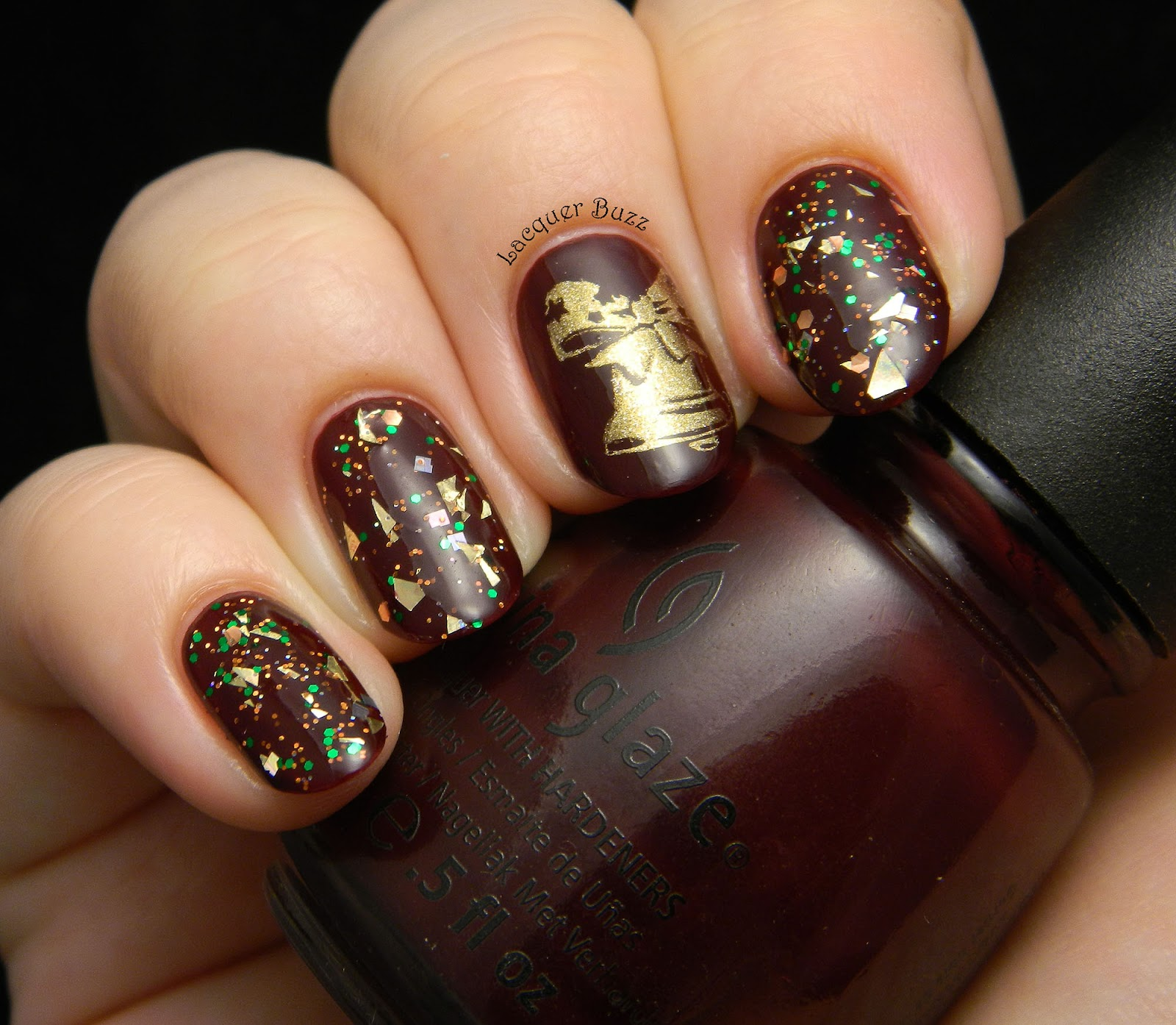 Lacquer Buzz: Getting Ready for Christmas: Red and Gold