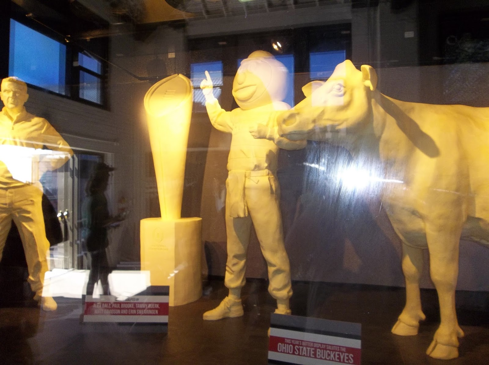 Ohio state university brutus buckeye statue - The Butter Cows And Other Butter Sculptures Ohio State University Buckeyes Was The Theme This Year Even Have A Butter Brutus Buckeye Sculptor