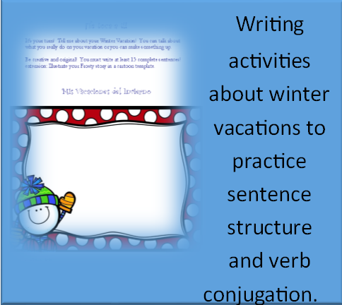 http://www.teacherspayteachers.com/Product/Spanish-Winter-Activities-PACKET-Vocabulary-Verbs-Grammar-Activities-170009